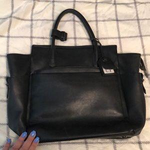 REED Black Leather Handbag